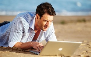 Here's a handsome man on a laptop to illustrate my point